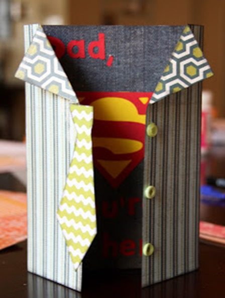 Superhero Father's Day Card from Kaminski's Creations