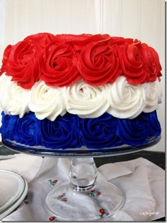 爱国玫瑰蛋糕400x533