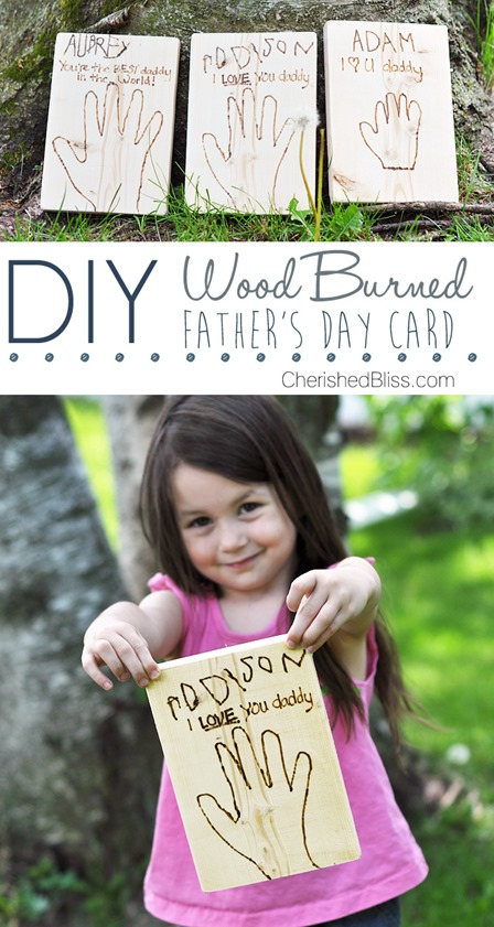 Wood Burned Father's Day Card from Cherished Bliss
