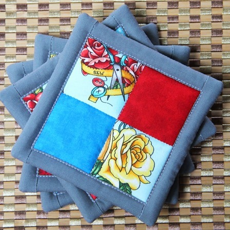 4 Patch Coasters from Crafty Staci