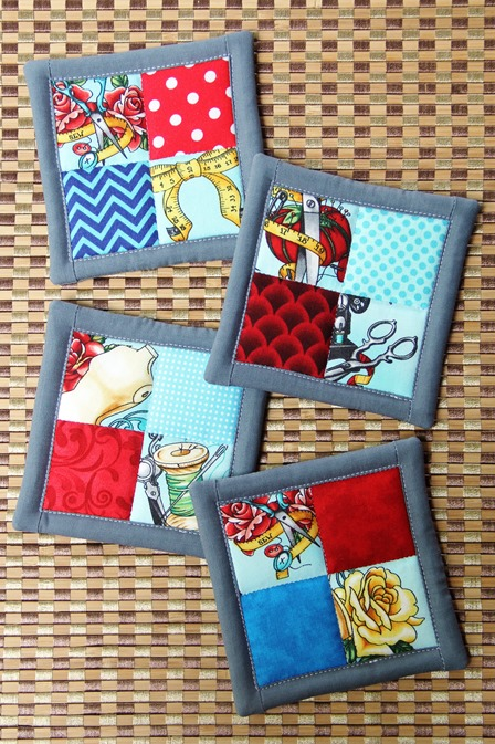 4 Patch Coasters