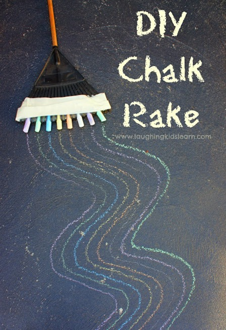 Chalk Rake from Laughing Kids Learn