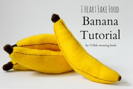 Felt Banana from While Wearing Heels