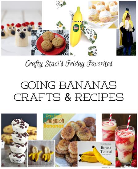 星期五的最爱-去香蕉工艺品和食谱