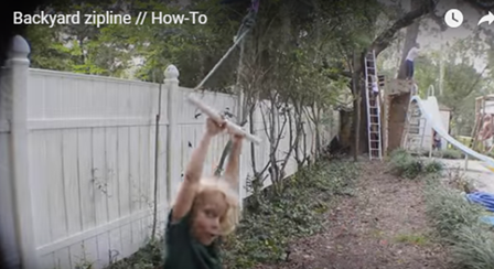 How to Make a Backyard Zipline from i_like_to_make_stuff on Instructables