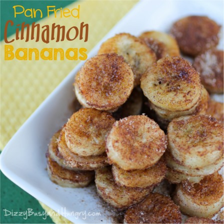 Pan Fried Cinnamon Bananas from Dizzy Busy and Hungry