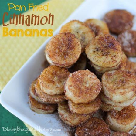 头昏眼花的Pan Fried Cinnamon Bananas
