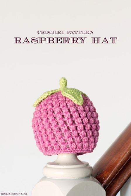 有希望的蜂蜜的覆盆子帽子钩针图案