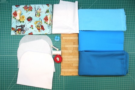 Supplies to make sewing machine hot pad