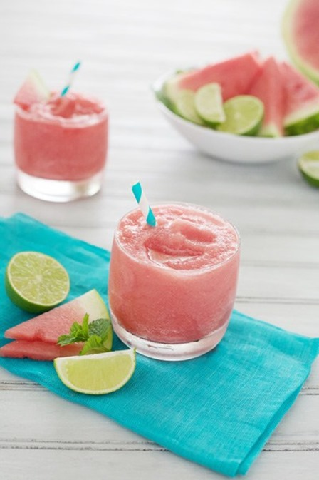 Watermelon Tequila Slush from Bourbon and Honey