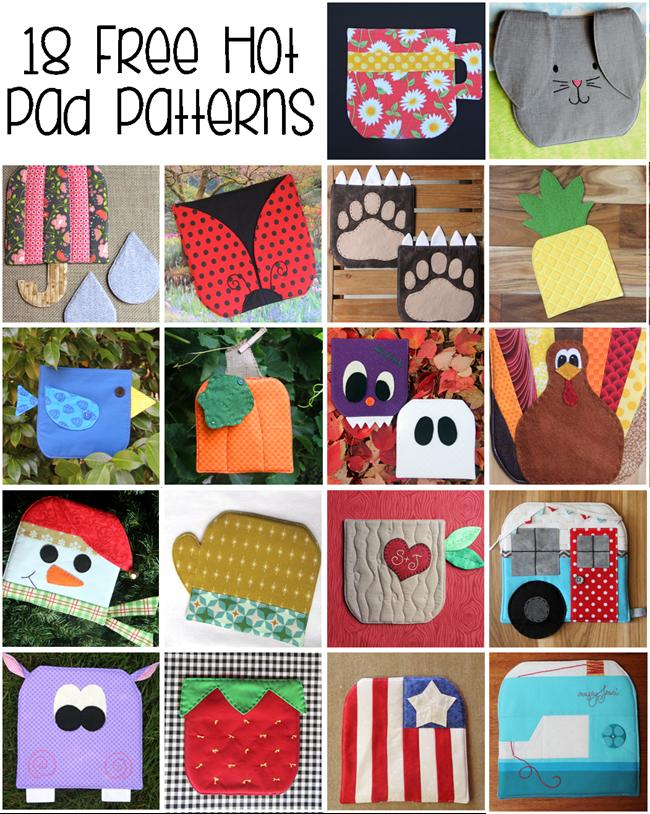 18 Free Hot Pad Patterns