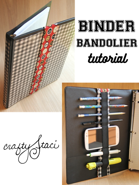 Binder Bandolier Tutorial from Crafty Staci