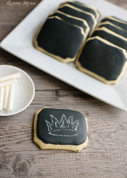 Chalkboard Cookies with Edible Chalk from Ashlee Marie