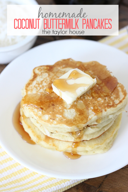 Coconut Buttermilk Pancakes from The Taylor House