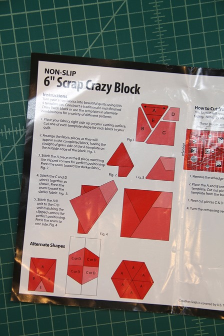 Creative Grids Scrap Crazy ruler instructions