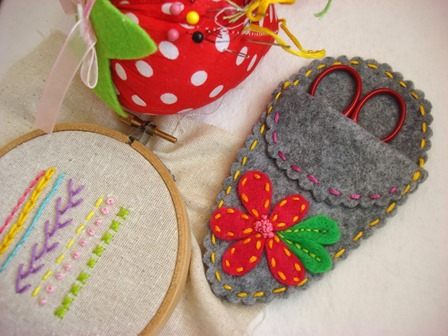 Embroidered Scissor Case from Feeling Stitchy