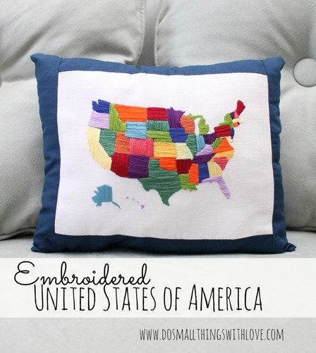 Embroidered United States of America from Do Small Things with Love
