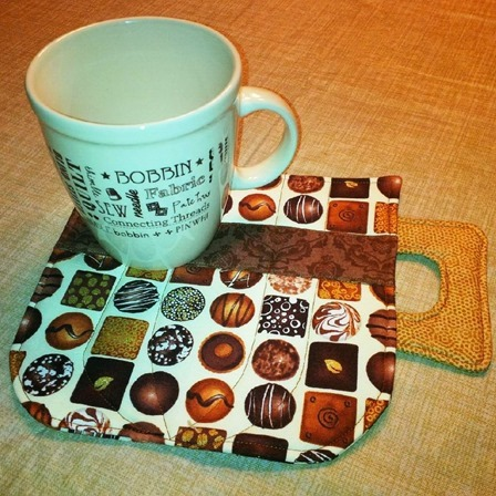 from Mary Simpson 1 Made as a mug rug for a friend who loves hot chocolate!