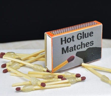Hot Glue Matches from ShakeTheFuture on Instructables