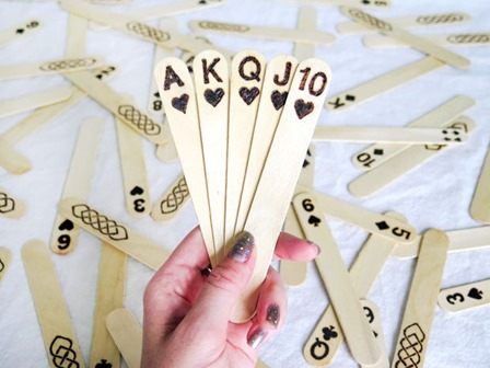 Popsicle Stick Playing Cards from Penolopy Bulnick