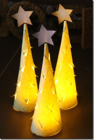 Illuminated Paper Trees 8