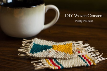 Woven Coasters from Pretty Prudent