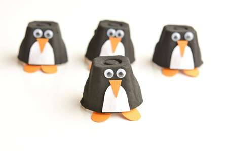 Egg Carton Penguins from One Little Project