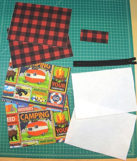 Zipper Pouch pieces cut out