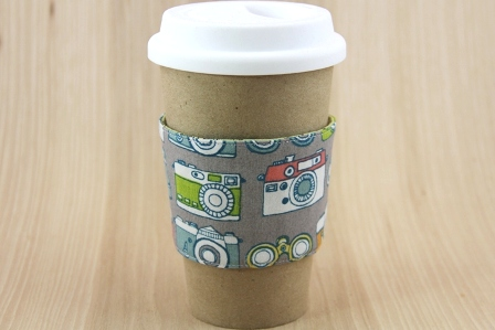 Camera Coffee Cup Sleeve - CraftyStaci