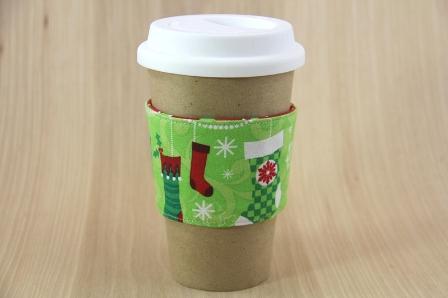 圣诞袜咖啡杯套-CraftyStaci