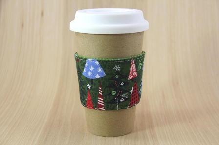 Christmas Tree Coffee Cup Sleeve - CraftyStaci