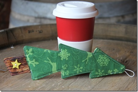 Christmas Tree Coffee Sleeve - Crafty Staci 11