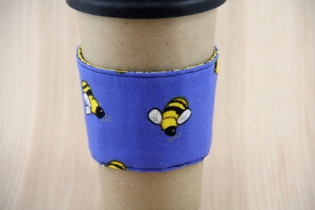 Honey Bee Coffee Cup Sleeve - CraftyStaci