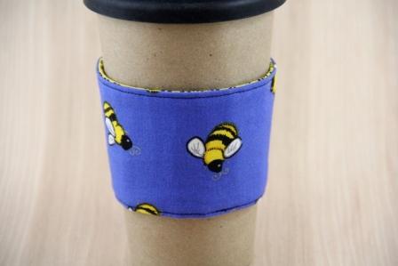 蜜蜂咖啡杯套-CraftyStaci