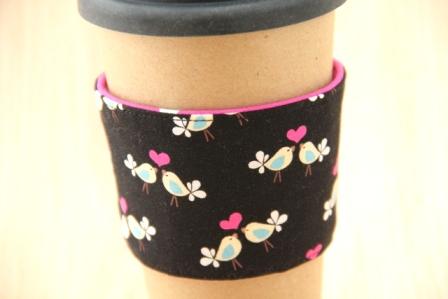 爱情鸟咖啡杯套-CraftyStaci