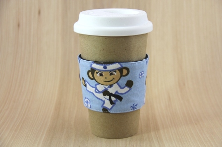 Ninja Monkey Coffee Cup Sleeve - CraftyStaci