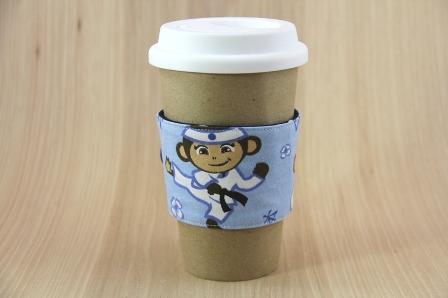 忍者猴子咖啡杯套-CraftyStaci