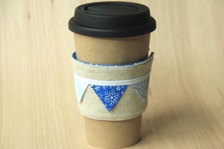 雪花咖啡杯套-CraftyStaci