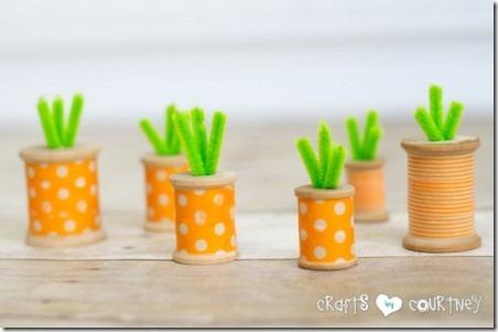 来自Courtney的Crafts线轴胡萝卜