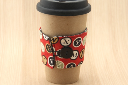 Typewriter Keys Coffee Cup Sleeve - CraftyStaci
