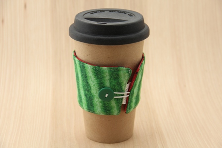 Watermelon Coffee Cup Sleeve - CraftyStaci