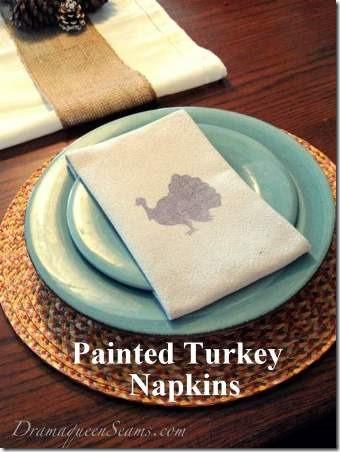 Drama Queen Seams Painted Turkey Napkins