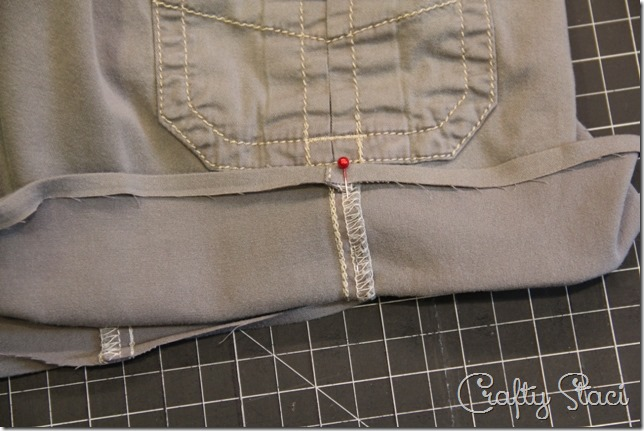 Adding a Side Slit to Shorts - Crafty Staci 2