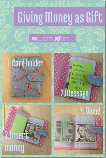 Card Holder with Cash by Start Up GF