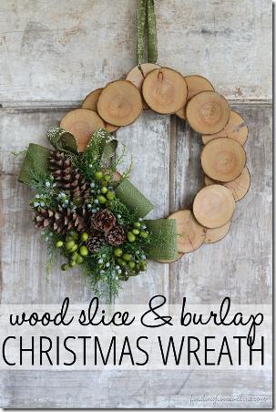 WoodSliceandBurlapChristmasWreath-在线寻找家