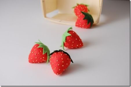 Felt Strawberries - While She Naps