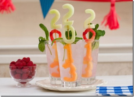Graduation Year Fruit Skewers - Right At Home