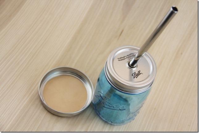 水杯,钢吸管和梅森杯垫-CraftyStaci