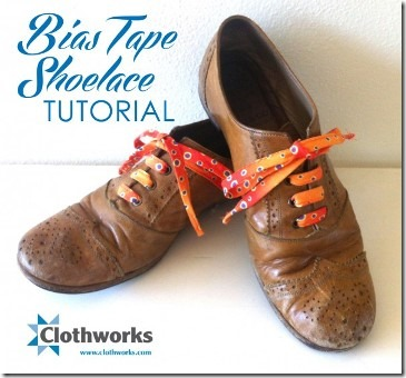 Bias Tape Shoelaces from Clothworks
