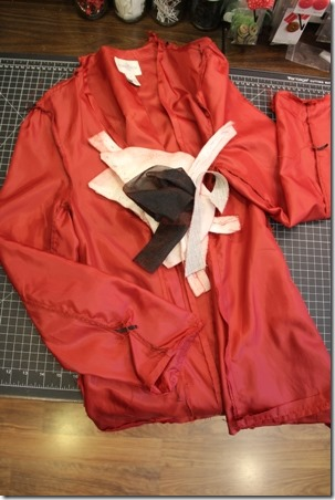Red Leather Coat Refashion - Crafty Staci 3
